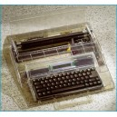 The 2416DM 128K Clear Cabinet Personal Memory Typewriter